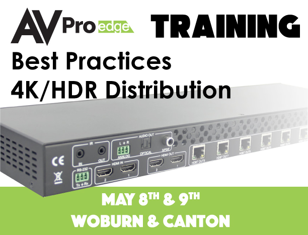 AVPro Training May 8th and 9th